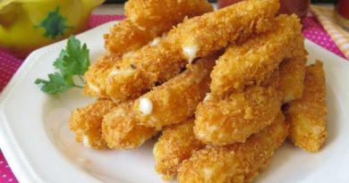 Palitos de mozarella con doritos