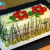 Pastel frío con atún o sandwichón de atún, fácil y económico