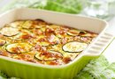 Gratinado de verduras con queso