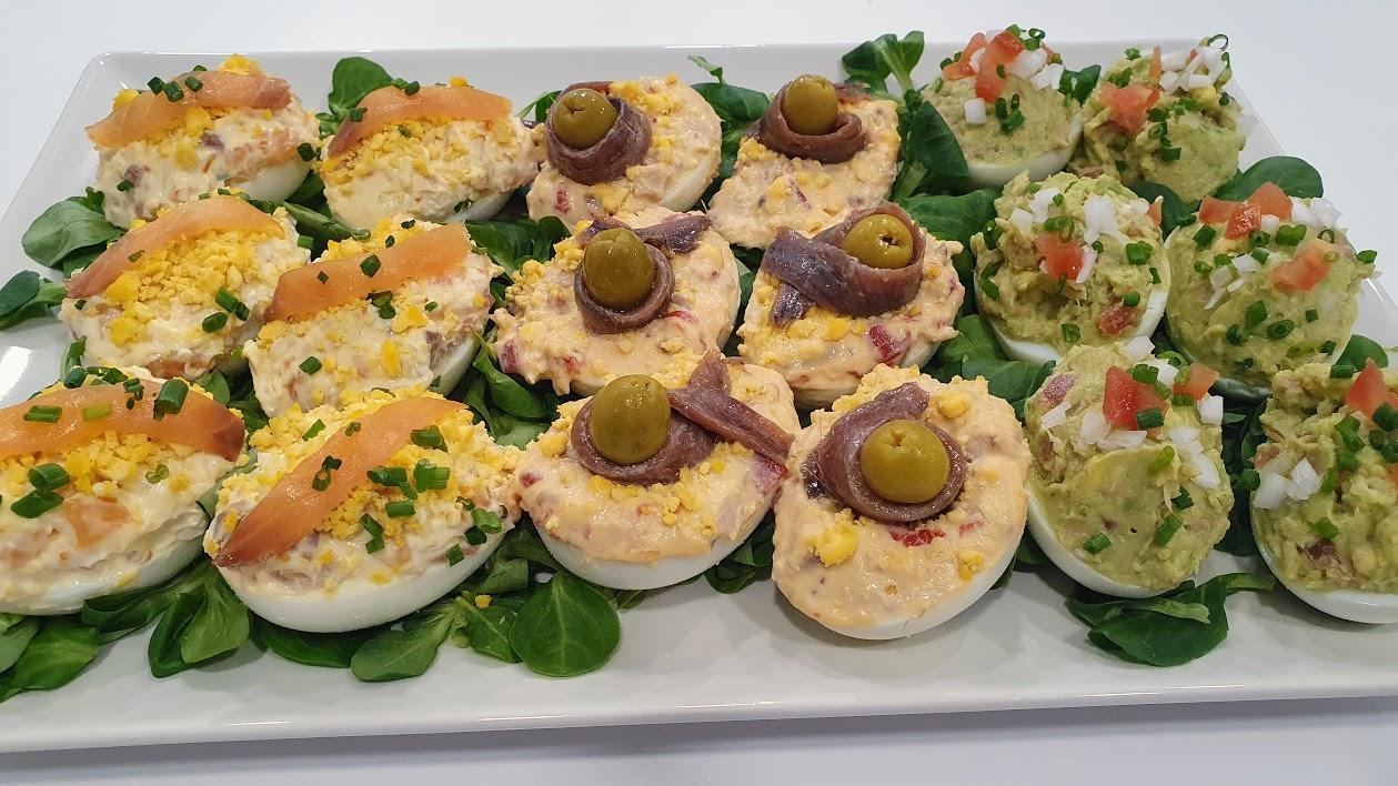 3 recetas de huevos rellenos