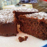 Tarta mousse de chocolate. Receta SIN harina