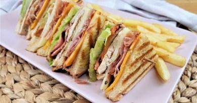 Sándwich Club. El sándwich de pollo más famoso