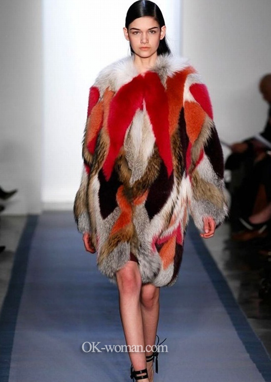 Peter Som pelage fashion fur coat. Winter coats for women 2013