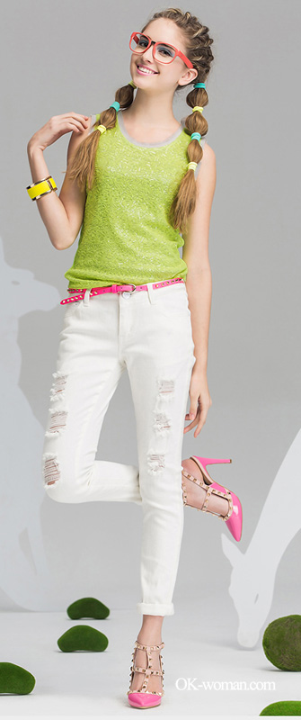 white jeans for girls Women's Jeans & Women's Denim