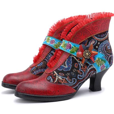 Shoes Retro Patchwork