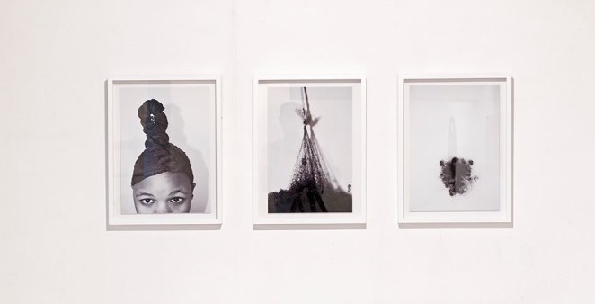 Pinky Mayeng, Moriri, 2014. Photographic Triptych. Courtesy of iQhiya.