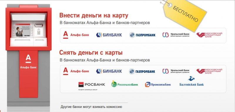 Альфа банк партнеры банка