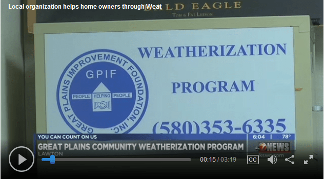 GPIF Weatherization Program on KSWO