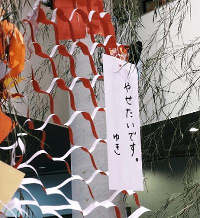 七夕まつり 飾り 願い事 短冊