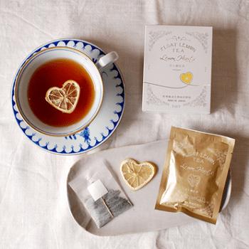 乾燥レモン ハートフロート 紅茶