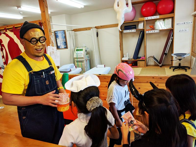 ハロウィンのイベントは子供たちも大喜びです