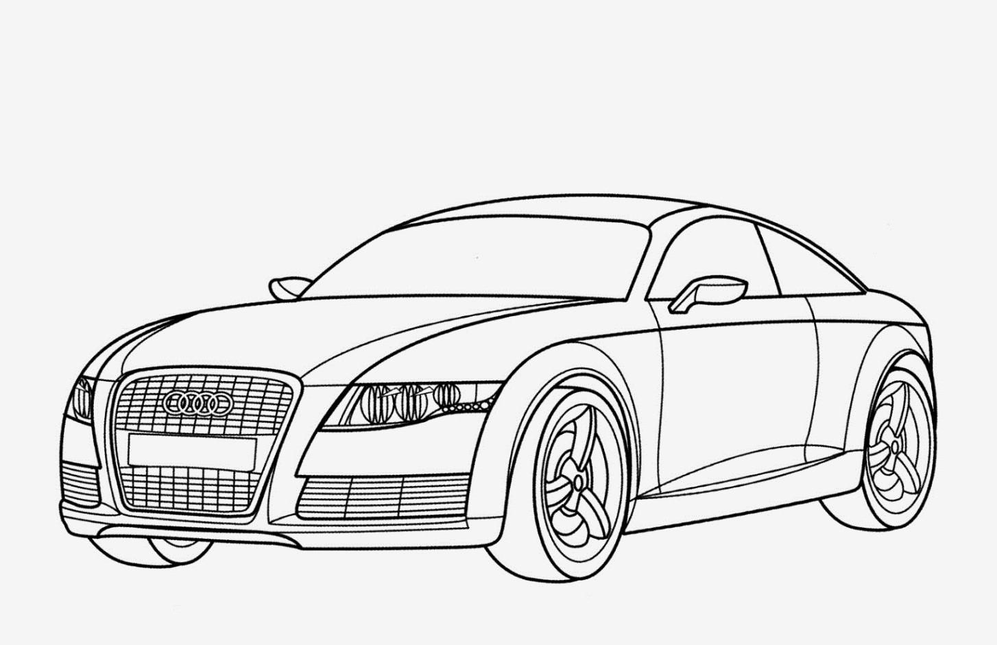 Kleurplaat Audi Q8 Kidkleurplaat