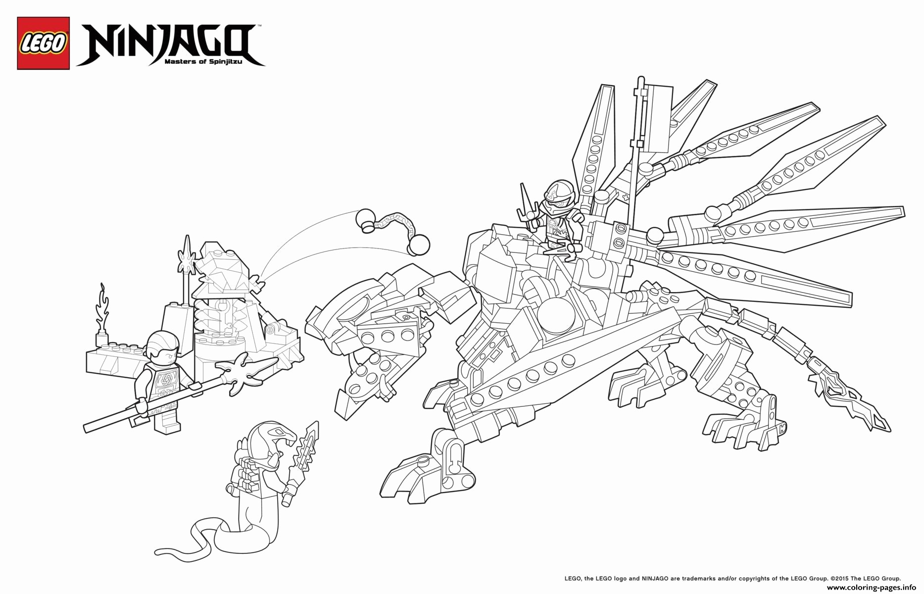 lego ninjago figuren ausmalbilder