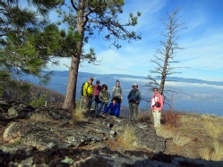 Hikers in Okanagan Mountain Park