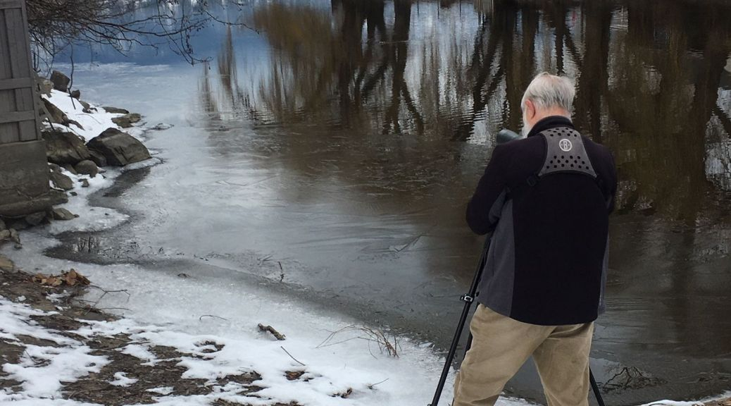 CONC President birding at mouth of Mission Creek
