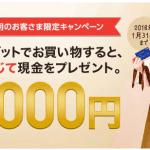 ジャパンネット銀行のJNB Visaデビットでお買い物すると利用回数に応じて最大1000円もらえます♪(~1/31まで)
