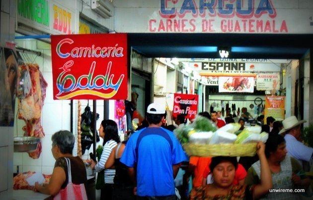 Meat stalls