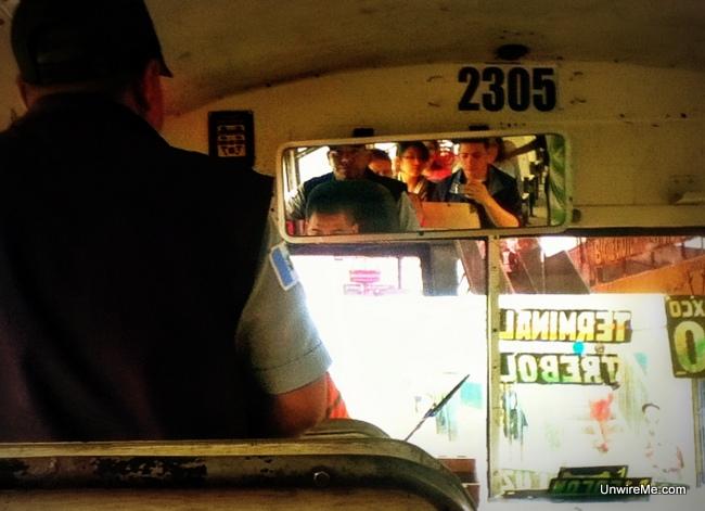 Chicken Bus driver in guatemala