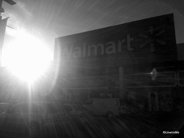 Parking lot at Walmar