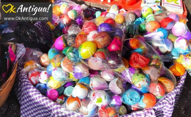 painted eggshells