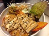 kabocha to tofu don // kürbis & tofu auf reis