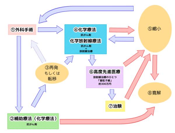 膵臓がん治療の流れ チャート図