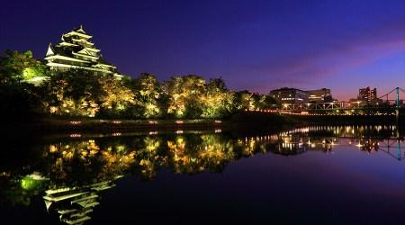 light up okayama castle