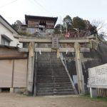 下津井・四柱神社で犬が怒っていたよ!