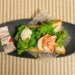 【岡山木村屋】スモークチキンとシーザーサラダのオープンサンドを食べたよ!