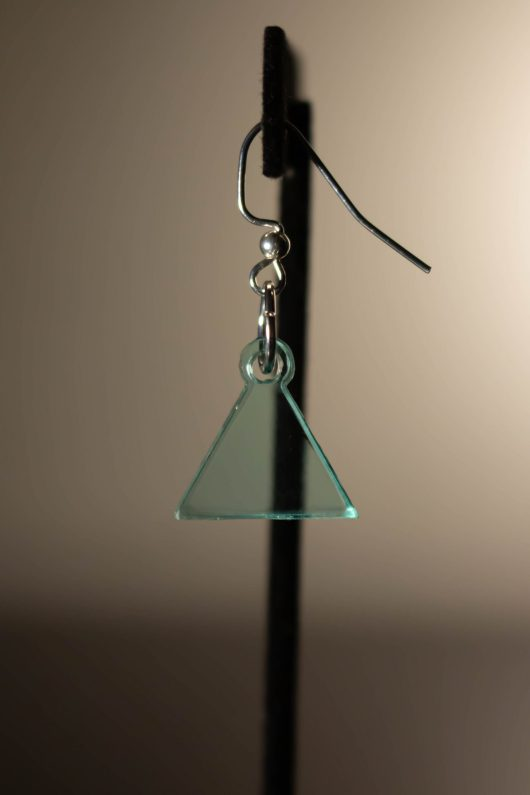 Teal Dangle Earring
