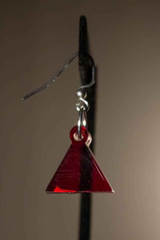 Red Dangle Earring