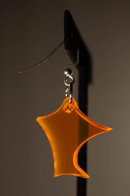 Orange Dangle Earring