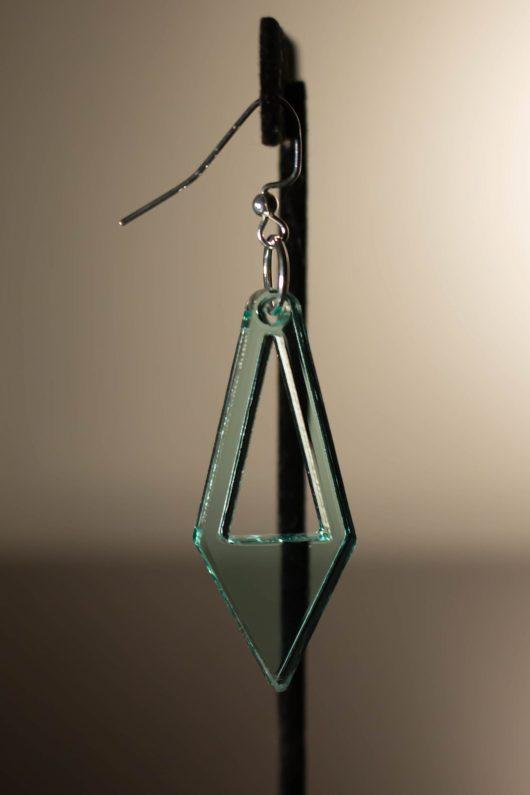 Tall Diamond Dangle Earring