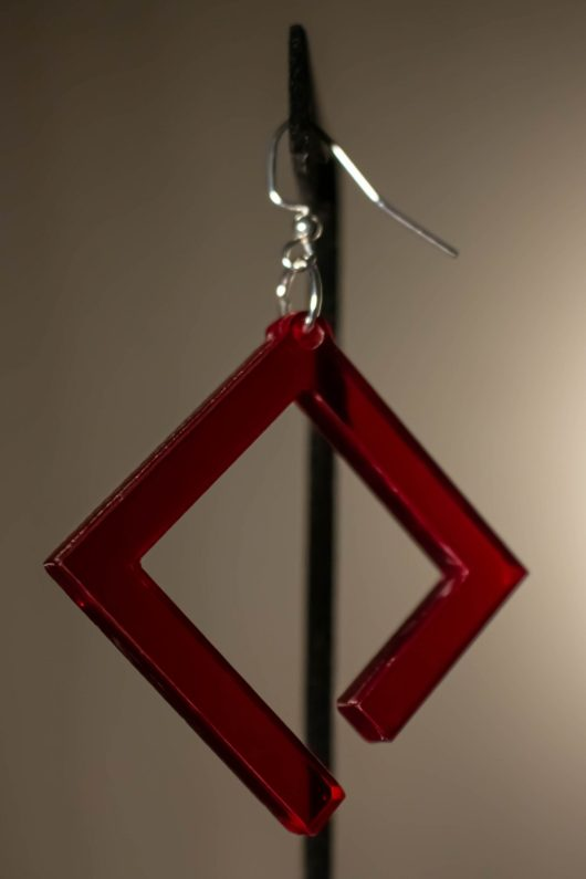 Incomplete Square Earring
