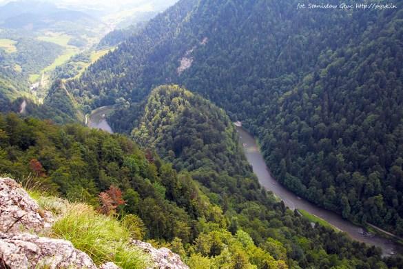 Widok z Sokolicy na przełom Dunajca