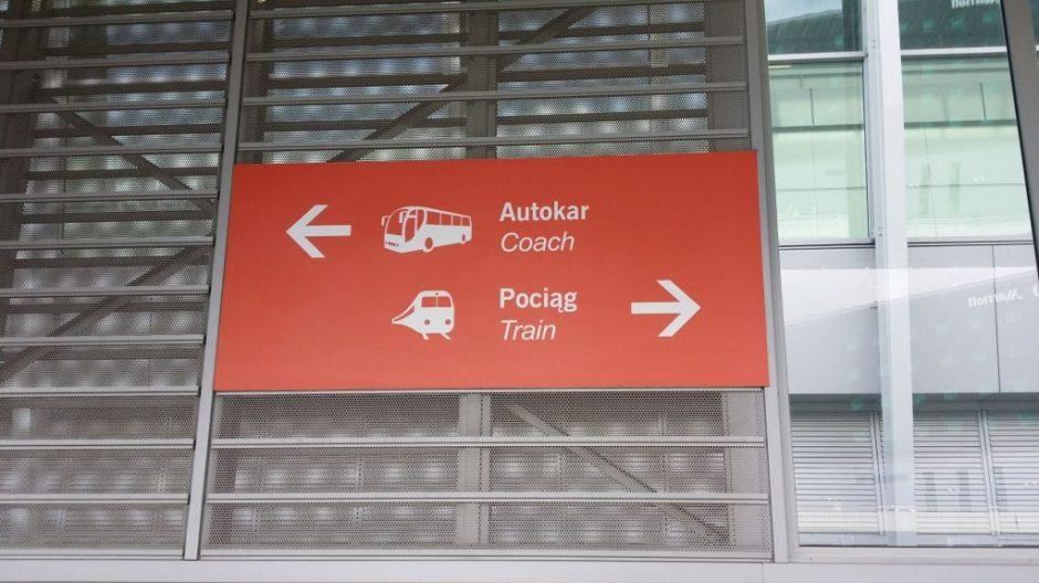 Oznakowanie Terminala Autobusowego na Lotnisku Chopina