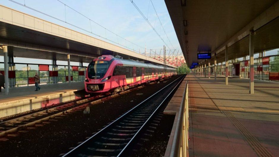 Impuls Newag SKM na stacji Warszawa Stadion