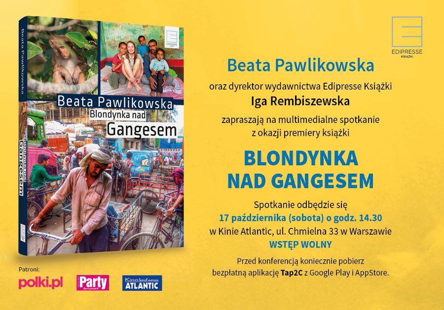 Blondynka nad Gangesem_B Pawlikowska_Zaproszenie