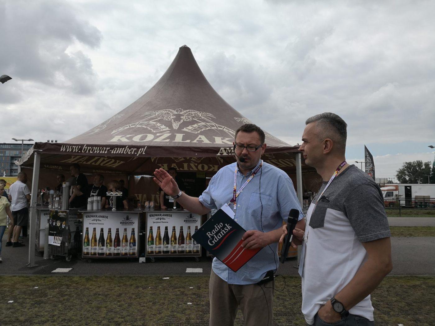 Amber Fest Michał Turek opowiadający o historii piw Amber