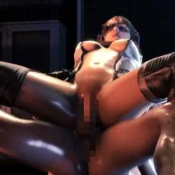 【3DCG,SFM】クワイエットが騎乗位でガン突きされるエロ動画【メタルギアソリッドV】