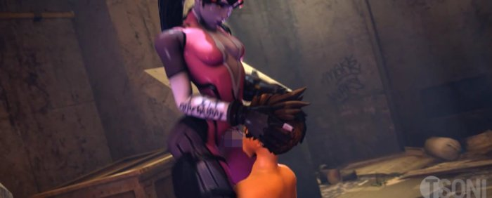 [Overwatch] 罠にかかったトレーサーをふたなりちんぽで強制イマラチオ [3DCG] (12)