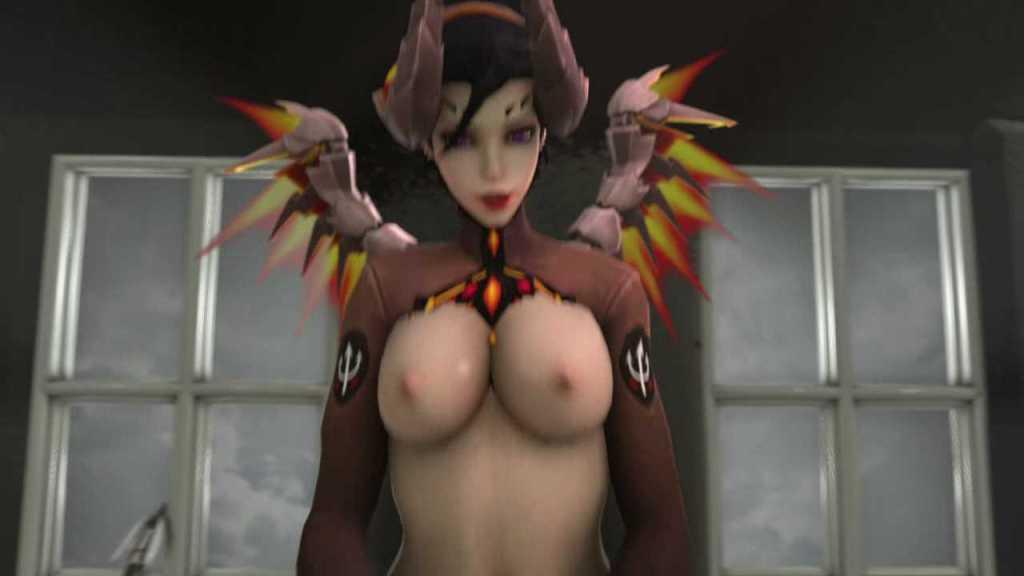 [3DCGアニメ] マーシー(アンジェラ・ジーグラー)が騎乗位で激しく腰を振り、たっぷり中出し【オーバーウォッチ(Overwatch)】 (22)