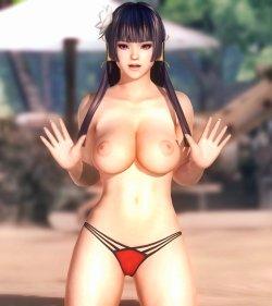 [DOA,3DCG] デッドオアアライブのヌードMODでキャラクターを全裸に剥くエロ動画 (32)