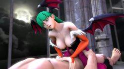 [SFM ヴァンパイア] モリガンのフェラや騎乗位、バックなどの3DCGアニメーション (6)