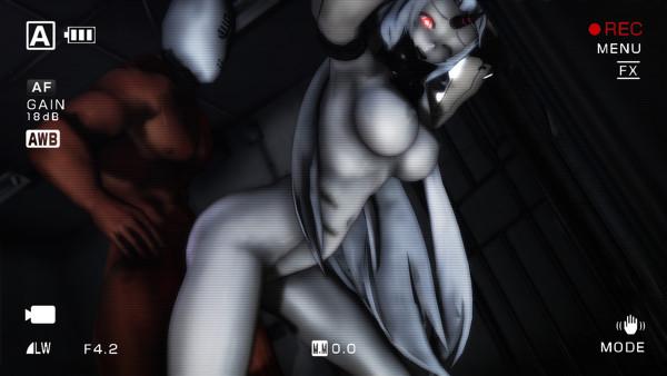 【MMD-R18,港湾棲姫】 港湾棲姫がディルドでオナニー→騎乗位でSEXするGIF・画像 (18)