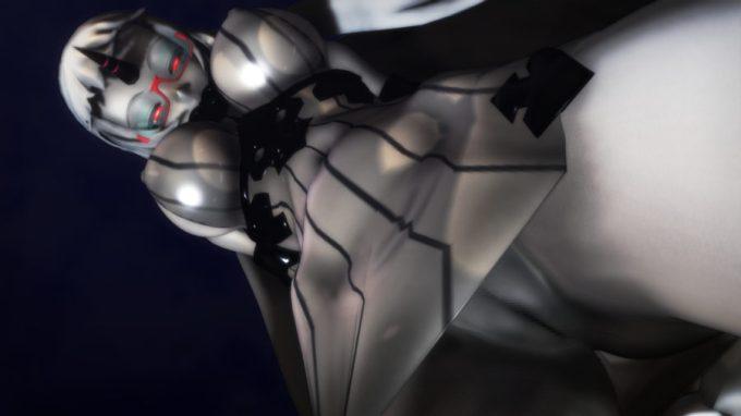 【MMD-R18,港湾棲姫】 港湾棲姫がディルドでオナニー→騎乗位でSEXするGIF・画像 (26)