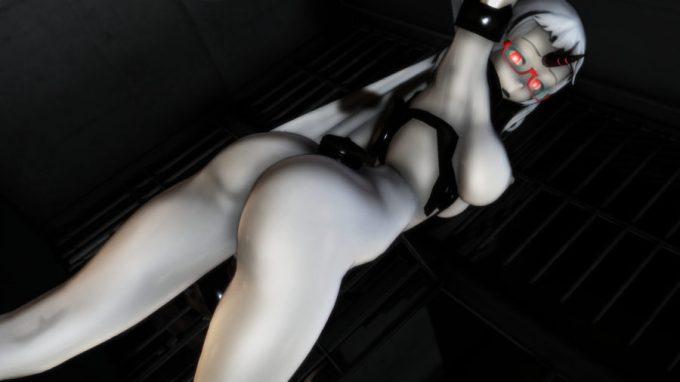 【MMD-R18,港湾棲姫】 港湾棲姫がディルドでオナニー→騎乗位でSEXするGIF・画像 (38)