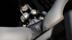 【MMD-R18,港湾棲姫】 港湾棲姫がディルドでオナニー→騎乗位でSEXするGIF・画像 (45)