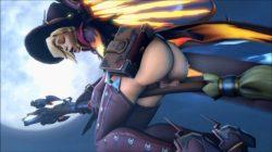 [Overwatch] 魔女コスプレのマーシーさんのエロ動画 [3DCG] (4)