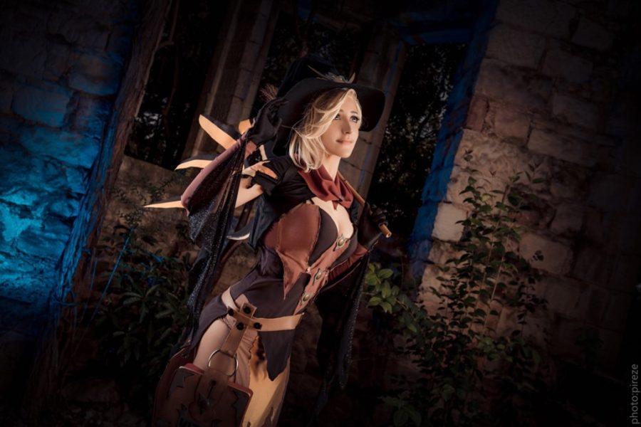 [コスプレ,Overwatch] 魔女のコスプレをするマーシーさんのコスプレ画像 (7)